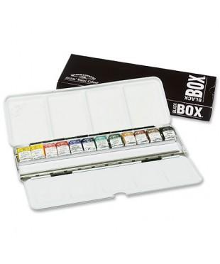 Набор акварели Winsor&Newton Artists Black Box, 12 цветов, металлическая коробка
