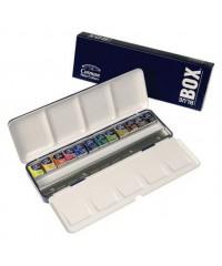 0390453 Winsor&Newton Краски акварельные Cotman, Blue box, 12 цветов в металлической коробке