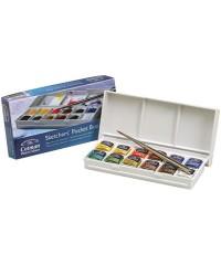 0390640 Набор акварели Winsor&Newton Cotman Sketchers Poket box, 12 цветов