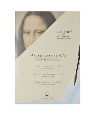 30144 Папка для акварели SCHOELLERSHAMMER DA CAPO, 20 листов, 220 г\кв.м, размер 300х400 мм