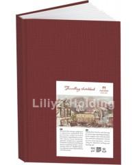 Блокнот для эскизов, набросков и зарисовок Palazzo  А6, 62 листа, цвет гранат  5634