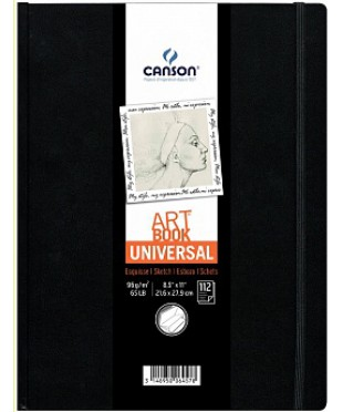Блокнот для зарисовок Universal 112л. 96г/кв.м,  21,6х27,9см
