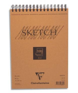 CL96644 Clairefontaine Блокнот для набросков SKETCH, спираль, 100л, размер 21х29,7