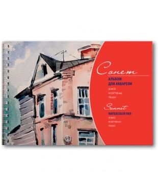 DK19022 Сонет Альбом для акварели А4 на спирали, 190 г/м, 24 листа