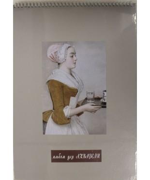 Альбом для акварели серая бумага А3 340гр. 20л  280421712