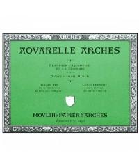 Бумага акварельная Arches, размер 760х560 мм, плотность 300 гр/м, Grain Fin цвет White