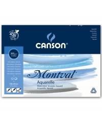 200807317 Альбом-склейка для акварели «Montval»  Canson  300гр/м ,18х25см, 12листов