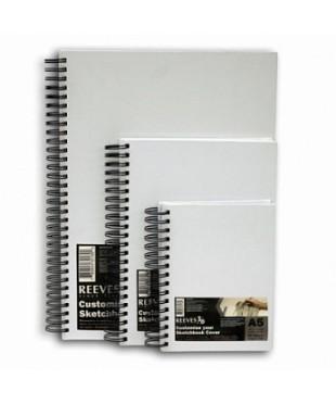RE8490595 REEVES Альбом для эскизов в твердой обложке, 80л, формат А5, плотность 96гр/м2