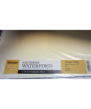 Бумага акварельная SAUNDERS WATERFORD, 760х560 мм, 190 г/кв.м, ROUGH White
