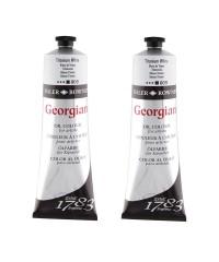 Белила титановые , масло, Georgian, titanium white, 225 мл
