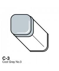 Маркер COPIC двухсторонний C3, цвет Cool Grey 3