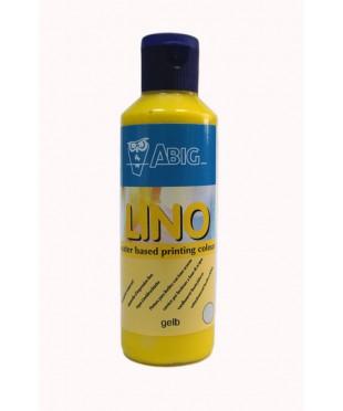 160280 ABIG Краска LINO на водной основе для линогравюр, 80 мл, цвет желтый