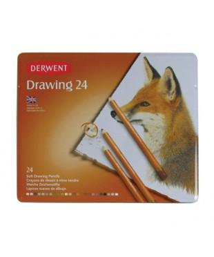 Набор цветных карандашей 24 цв.,  0700672, Derwent