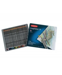 0700803 DERWENT Набор графитных цветных карандашей, 24 цвета, металл
