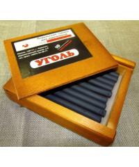 08122015009 Уголь прессованный 10 шт, деревянный пенал