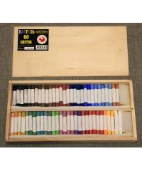 08122015016 Набор пастели сухой, 60 цветов, деревянный пенал