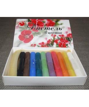 Набор пастели сухой, 10 цветов, картонная упаковка, 08122015018