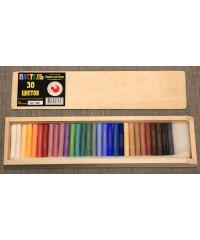 Набор пастели сухой, 08122015020 30 цветов, деревянный пенал