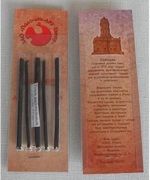 08122015037 Уголь рисовальный, 5 шт, в блистере, толщина 3-5 мм