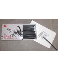 08122015059 Уголь рисовальный в картоне, толщина 3-5 мм