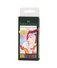 167103 Набор капиллярных ручек Faber-Castell, 6 цветов