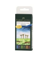 167105 Набор капиллярных ручек Faber-Castell, 6 цветов