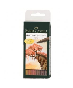 Набор капиллярных ручек Faber-Castell, 6 цветов