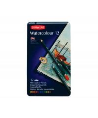 32881 DERWENT Набор акварельных карандашей Watercolor 12 цветов в металлической коробке