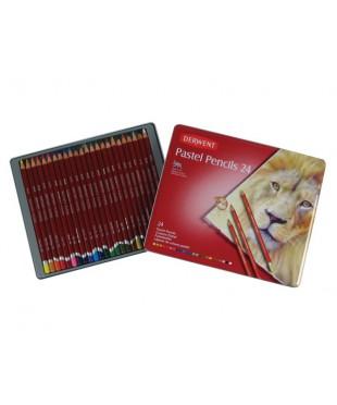 Набор пастельных карандашей Derwent, 24 цвета, металлическая коробка