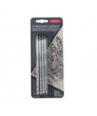 DE34304 DERWENT Набор водорастворимых графитных мелков GRAFITONE в виде карандаша, упаковка, 4 шт.