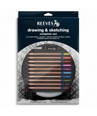 RE8210144 Набор для рисования и эскизов( 10 х цветные карандаши,4 х чернографитовые карандаши, 1 х г