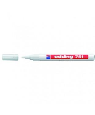 Маркер paint (лак)  EDDING-751/49 bбелый, 1-2 мм металлический корпус, 87780