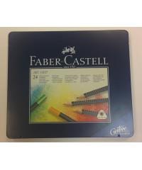 114324 Faber-Castell Карандаши цветные Art Grip, набор из 24 шт. в металлической коробке