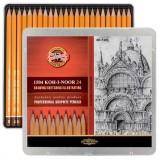 """1504024001PL KOH-I-NOOR 1504 (24) Набор профессиональных чернографитных карандашей, 24 шт. """"Art"""" (8B"""