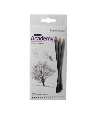 2300087 Набор карандашей  (6В-5Н) в картоне 12 шт