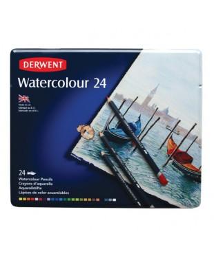Набор акварельных карандашей DERWENT  32883  Watercolor, 24 цвета, в металлической коробке