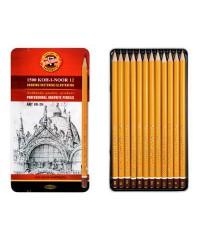 """1502012008PL KOH-I-NOOR 1502/2 (12) Набор профессиональных чернографитных карандашей, 12 шт. """" Art"""""""