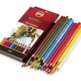 3718024001KSR Набор высококачественных акварельных цветных карандашей 24цв., в карт. кор.