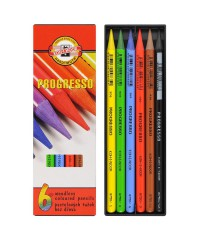 8755006007PZ Набор  цветных карандашей 6цв.,в лаке, без дерева, в картонной упак.