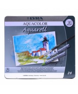 Восковые акварельные мелки 24 цвета LYRA Aquacolor