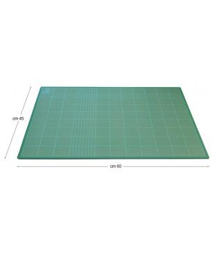 Коврик для резки и макетирования, 45х60 см, толщина 3 мм, сетка с шагом 1 мм/5 см, зеленый DAFA, 22860