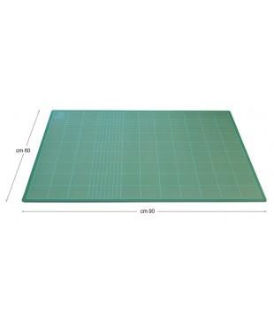 22890 Коврик для резки и макетирования, 60х90 см, толщина 3 мм, сетка с шагом 1 мм/5 см, зеленый DAFA