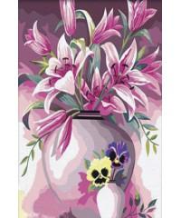 "DI-5064 Картина со стразами ""Цветы"", размер 40х50 см"