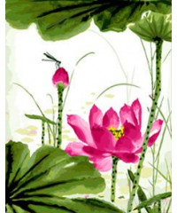 "DI-5279 Картина со стразами ""Цветы"", размер 40х50 см"