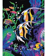 """DI-E080 Картина со стразами """"Море"""", размер 40х50 см"""