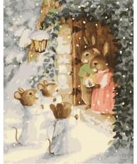 "DI-W332 Картина со стразами ""Животные"", размер 40х50 см"