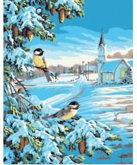 Е011 Раскраска 40х 50 Птицы