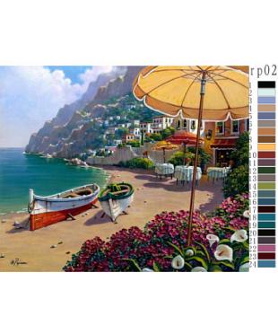 """Живопись по номерам """"Роберт Пежман (Robert Pejman) Море"""", размер 40х50 см  RP02"""