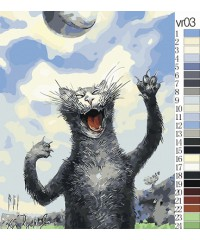"Живопись по номерам ""Животные"", размер 40х50 см  VR03"
