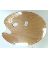 А15441 Палитра деревянная овальная 30х37см